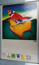 Original Vintage 1980 Olympic Games Poster Levi Strauss 1979 Los Angeles