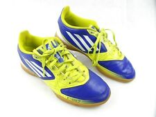 Adidas F-50 Indoor Soccer Yellow Blue Shoes Mens/Boys Size 5 Euro 37.3