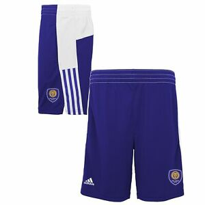 Adidas MLS Youth (8-20) Orlando City SC Fan Athletic Shorts, Purple
