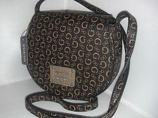 NEW GUESS LADIES CROSS BODY HIGHWAY MINI BAG NATURAL BROWN COLOR
