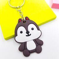 "*US Seller* 2"" Squirrel Chip Soft Silicone PVC Keychain Disney Child Cartoon"