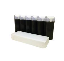 6x Chocolate Wax Cartridge Large Roller 100g + 100 Fleece strips Body Legs