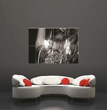 Painting Sexy Tattoo Asian B&W Giant Art Print Home Decor Poster