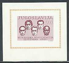 YUGOSLAVIA, Sc #615, MNH, 1961, S/S, Conference of Non-aligned Nations, CL001F