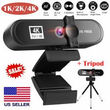 1K 2K 4K Full HD Stand Webcam USB PC Desktop Laptop Web Camera with Microphone