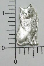 41604 - Victorian Sitting Cat Jewelry Finding Brass Oxidized