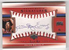 2003-04 Upper Deck Sweet Shot Julius Erving Auto Dr. J Philadelphia 76er's