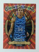 2020 UD Goodwin Champions Red RJ Hampton Rookie RC #GB-6, Insert, #'d/249