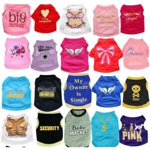 20PCS Lot Dog Clothes T Shirt Pet Boy Girl Small Puppy Cat Vest Summer Wholesale
