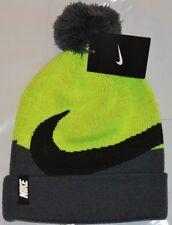 bf287959feeb0 Nike Beanie Winter Pom Hat - Boy s Volt Grey Size 8 -20 Free Shipping