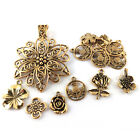 Tibetan Flower Charms Antique Gold 5-40mm Pack Of 30g