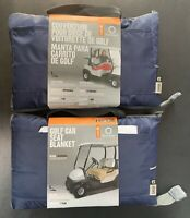 Lot of 2 Classic Accessories Fairway Golf Cart Navy Blue Seat Cover/Blanket