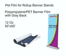 Jazzyflex Pet Material With Grey Back For Banners Stands 12oz 50 X 50 Roll