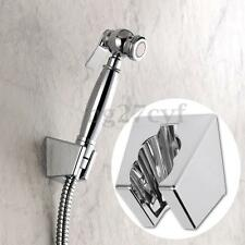 Chrome Wall Mounted Shower Bracket Hand Held Sprayer Head Stand Holder Bathroom