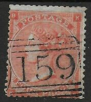 SG82. 4d.Pale Red (Hair Lines) Plate 4. FU With !59 Numeral Of Glasgow. Ref:0814