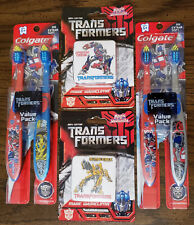 Transformers 2007 Movie Toothbrush and Magic Washcloth Sets!!! New and Sealed!!!