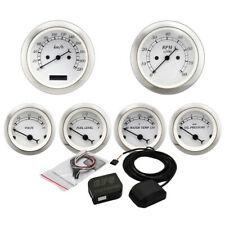 MOTOR METER RACING 6 Gauge Set Classic Electronic Speedometer GPS Set KMH °C BAR