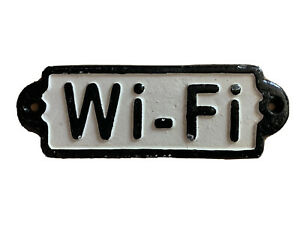 Cast Iron WIFI Shabby Chic Modern WALL DECOR SIGN - NEW