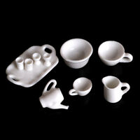 10pcs Dollhouse Miniature Dining Ware Tea Set Dish Cup Plate Ch