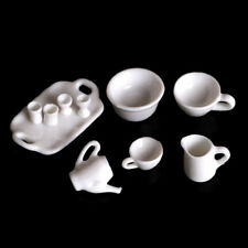 10pcs Dollhouse Miniature Dining Ware Tea Set Dish Cup Plate TS
