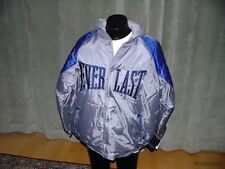 Everlast Parka Hoodie Silver Blue Size XL Puffy Fresh Jacket Button Boxing Gym