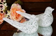 Marble Stone Pair of Pigeons Figurine Ornaments Home Decor