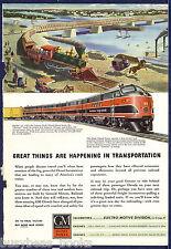 1945 General Motors Diesel advertisement, ROCK ISLAND RR EMD FT 99
