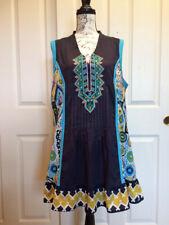Joe Browns Embroidered Navy Tunic Dress US Size 14, UK Size 18 Boho Lagenlook