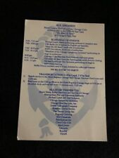 1990 CHICAGO CUBS  ALL STAR GAME PARTICIPANTS PARTY GALA PROGRAM NAVY PIER