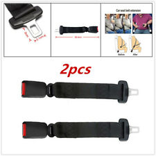 2X Black Car Seat Safety Belt Extender Extension Buckles Security 36cm Seatbelt