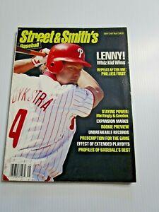 1994 Street & Smith Baseball Yearbook Lenny Dykstra Philadelphia Phillies Cover