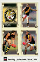 2003 Select AFL XL Ultra Trading Cards Base Card Team Set Richmond (10)