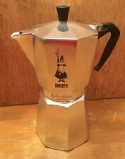 BIALETTI MOKA EXPRESS 12 CUP ALUMINUM STOVE TOP MAKER (GAS & ELECTRIC) New