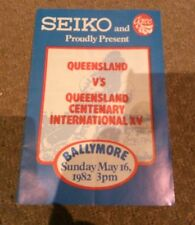 Seiko present Qld vs Queensland centenary international XV Ballymore may 16 1982