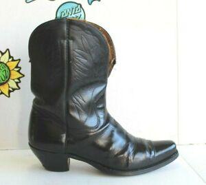 Vintage 1950's  Men's Cowboy Western Black Boots, Size 11 USA Made.
