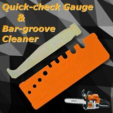 2Pcs Chainsaw Chain Saw Tool Quick-check Gauge Guide Bar-groove Rail Cleaner