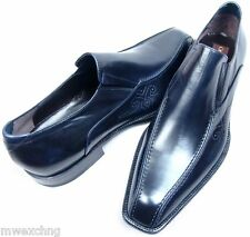 $680 CESARE PACIOTTI US 7 GOAT SKIN LEATHER LOAFERS ITALIAN DESIGNER MENS SHOES