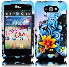 For LG Motion 4G / Optimus Regard HARD Case Snap On Phone Cover Yellow Lily