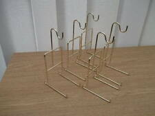 5 X HANGING CUP & SAUCER  DISPLAY STAND GOLD COLOURED METAL