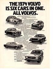 1974 VOLVO 544 / 122 / 164 / 1800 / EXPERIMENTAL / 144  ~  ORIGINAL PRINT AD
