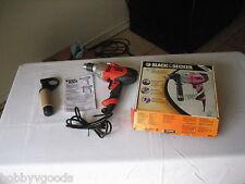 """BLACK & DECKER DR501 1/2"""" VSR DRILL / DRIVER 6 AMPS TORQUE SIDE HANDLE CHUCK KEY"""