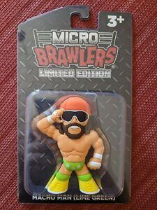 Macho Man Randy Savage Green Micro Brawler Wrestling Crate Figure WCW TNA WWE