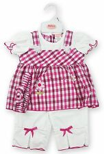Baby Girls Top Dress & Trousers with Bows & Headband Summer Set Oufit