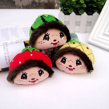 Little Monchhichi Doll Head Toy Plush Keychain Keyring Fruit Shaped FANCYQUBE