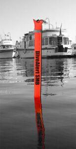 Dive Alert Surface Marker Buoy SMB Scuba Diving Dive Safety Signal Tube - Orange