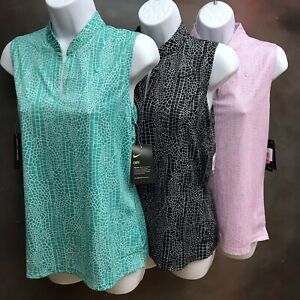 Nike Golf Women's Victory Printed Polo Shirt Sleeveless Top AJ5329
