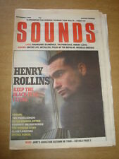 SOUNDS 1988 SEPTEMBER 3 HENRY ROLLINS EUROPE PROCLAIMERS PETER GABRIEL SMITHS