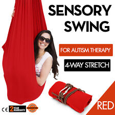 Soft Swing Hammock for Autism ADHD ADD Therapy Cuddle Up to 220LBS Sensory Red
