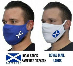 Face Mask Washable Eco Cover Breathable Reusable Double Layers Scotland Saltire