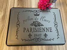 A4 French Vintage Stencil Wall Furniture Decor Template Shabby Chic Paris  Craft